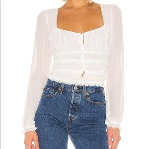 Free People Solid Lolita Blouse